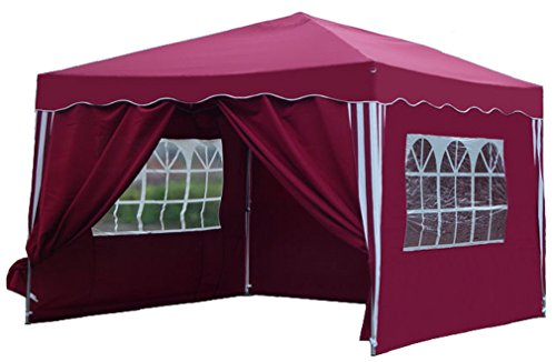 kronenburg falt pavillon 3x3 m rot kaufen top aktuell neupartyzelt. Black Bedroom Furniture Sets. Home Design Ideas