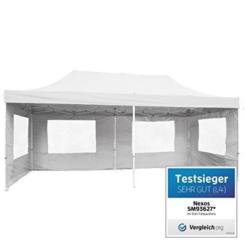 Nexos Falt Pavillon 3x6 M Kaufen Weiß Mit Seitenteilen